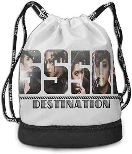 メンズ レディース 兼用ss501 Logo キム?ヒョンジュン2 ナップサック アウトドア ジムサック 防水仕様 バッグ 巾着袋 スポーツ 収納バッグ 軽量 バッグ 登山 自転車 通学・通勤・運動 ・旅行に最適 アウトドア 収納バッグ