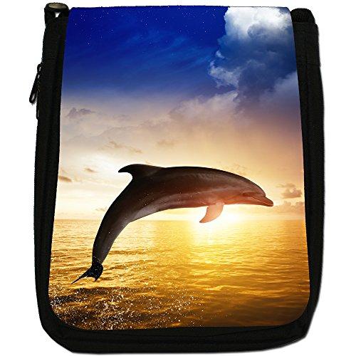 Medium Nero A Di Tela nbsp; Dolphins Tracolla 8xqzdW