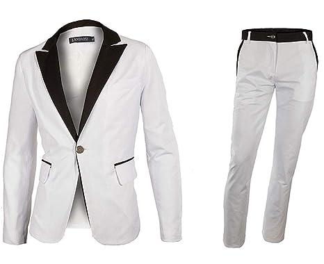LANBAOSI - Conjunto de Chaqueta y Pantalones de Vestir para Hombre ...