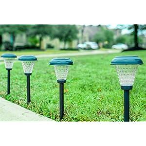 Grant Park 8-Pack Bright LED Solar Lights for Outdoor Landscape Yard Pathway Garden Lighting
