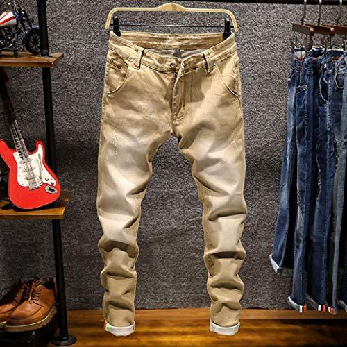 Hip Pantaloni Liuchehd Streetwear Jeans Cachi Fit Sottile Zip Moto Hop 2019 Uomo Slim Vintage Strappati Skinny Denim qPOwXPx