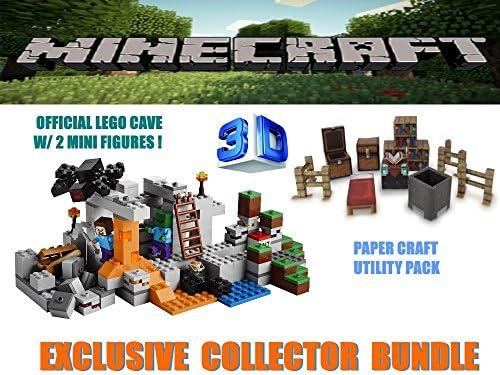 Minecraft Lego The Cave 21113 Juego con Paquete de utilidades para Manualidades: Amazon.es: Juguetes y juegos
