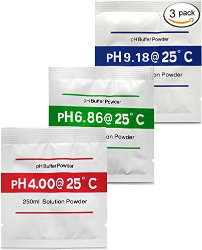 Buffer Powder - Digital Aid pH Calibration Solution Powder (4.00pH, 6.86pH, and 9.18pH). (1x3 Pack)(FBA)