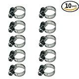 hose clamp 12 - Adjustable Stainless Steel Worm Gear Hose Clamps (9-16mm)