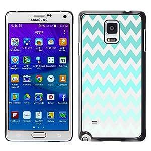 For Samsung Galaxy Note 4 IV / SM-N910F / SM-N910K / SM-N910C / SM-N910W8 / SM-N910U / SM-N910G , S-type® Iridescent Green Colorful Gray - Arte & diseño plástico duro Fundas Cover Cubre Hard Case Cover