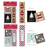 Add a cute tough of Christmas and save time wrapping using these boxes for your jewelry presents. Each set comes with 6 boxes in 2 different color assortments: (2) 4 x 3 inches, (2) 3 x 3 inches and (2) 2 x 8 inches. There's a different moder...