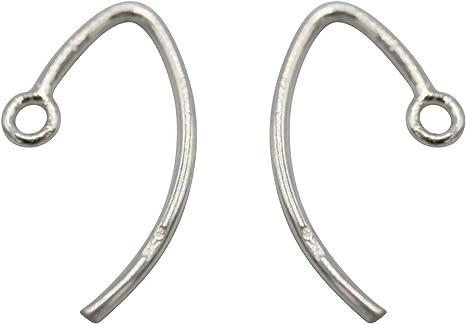 10PCS Jewelry Making Findings 925 Sterling Silver Hook Earring Wire U Shape