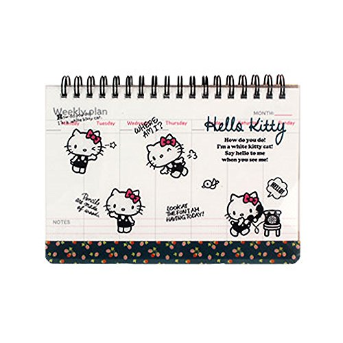 Sanrio Hello Kitty PP Cover Weekly Scheduler Planner 1pc Memo Pad