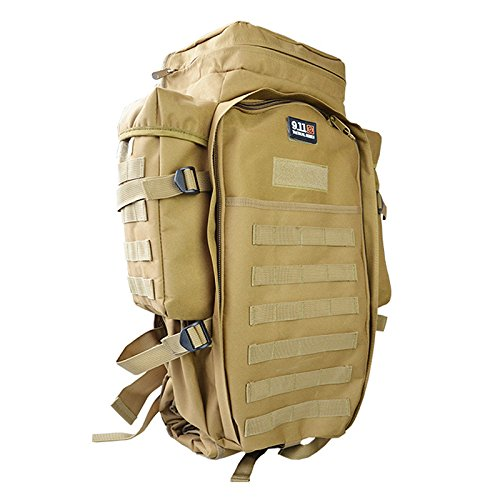 Meiyiu Sports Waterproof Backpack Adult Outdoor Oxford Cloth Package Large Capacity Unisex Multi-Functional Camping Bag Wolf Brown
