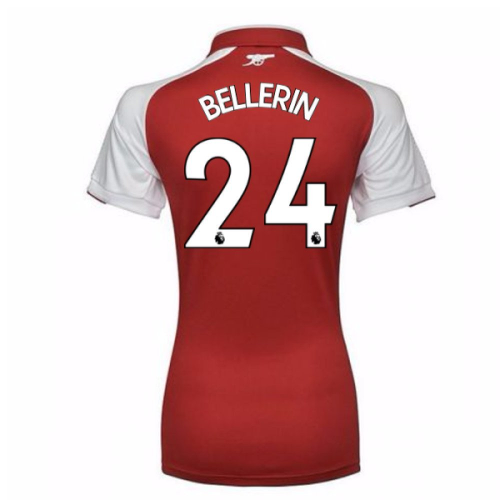 2017-18 Arsenal Womens Home Shirt (Bellerin 24) B077PRR96YRed Small Size 10