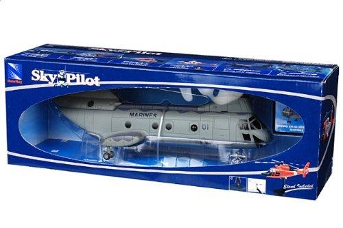 1:55 New Ray Sky パイロット 25897 ボーイング CH-46E Sea Knight ダイキャスト モデル USMC HMM-165【並行輸入品】