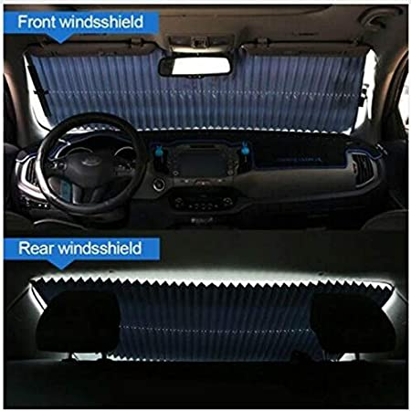 Gmxop Retractable Foldable Car Window Shade Cover Sun Block Anti-UV Shield Curtain