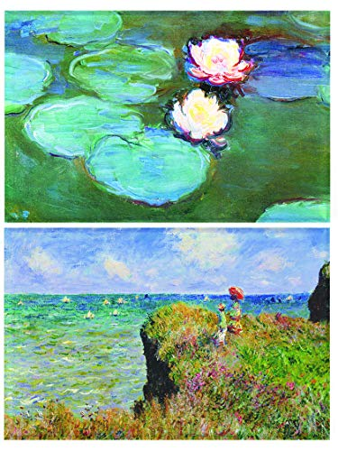 Buttonsmith Monet WaterLilies Magnet - Set of 2 1.75