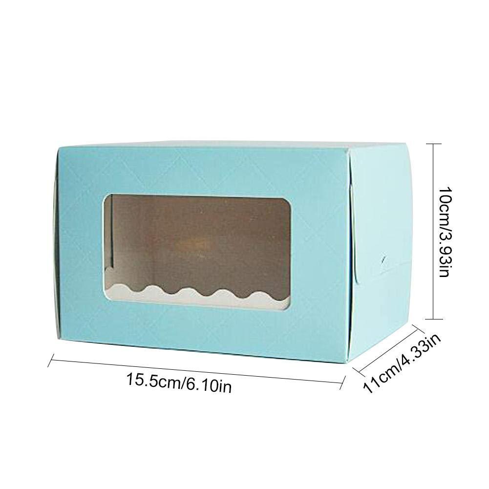 Caja de Torta Francesa Caja de Regalo de Caja de Comida peque/ña Caja de Pastel de Diamante Caja de Rollo de Pastel de Diamante 15 Paquetes, opci/ón de Color Libre