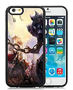 Unique Custom Designed Gladiator Battle iPhone 6 6th Generation 4.7 Inch Black Phone Case CR-252
