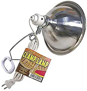 Zoo Med Economy Clamp Lamp with 8.5-Inch Dome, Chrome