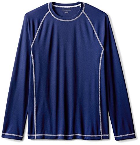Amazon Essentials Mens Long-Sleeve Quick-Dry UPF 50 Swim Tee, Navy, Medium