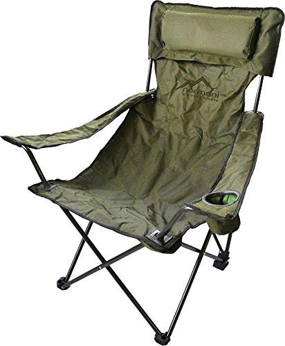Campingstuhl Faltstuhl Klappstuhl Anglerstuhl Getränkehalter Stuhl Gartenstuhl für den Sommer Farbe Deluxe/Olive