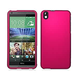 **PDA**For HTC Desire 816 (Virgin Mobile) Rubberized Protector Cover, Rose Pink