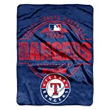 "MLB Texas Rangers ""Structure"" Micro-Raschel Throw, Blue, 46 x 60-Inch"