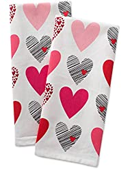 DII 100% Hearts Collage Dish Towels, Ultra-Absorbant, Machine Washable Perfect, Dishtowels