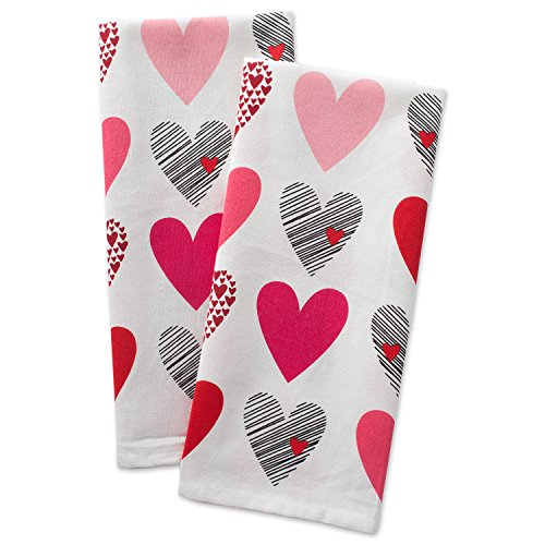 DII Valentine's Day Hearts Collage 100% Cotton Dish