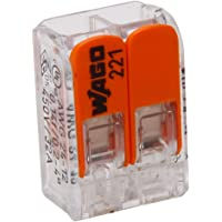 Kopp 33346415 Wago steekklem 2-voudig met hendel voor flexibele draden heropenbaar transparant 1,5-2,5 mm² inhoud 5…