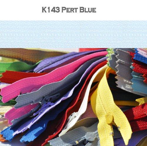 8-nylon-coil-zippers-ykk-3-skirt-dress-zippers-10-zippers-pack-select-color-k143pert-blue