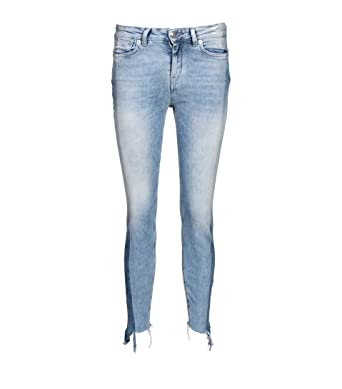 Drykorn Damen Jeans Need in Blauer Used Waschung: