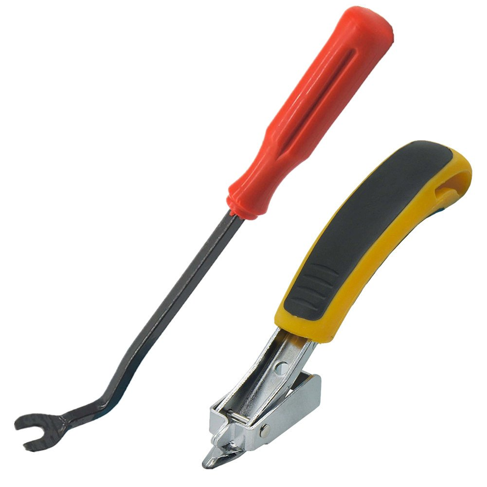 VCCA Heavy Duty Upholstery and Construction Staple Remover with Tack Puller Tool