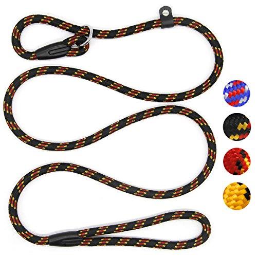 Coolrunner Durable Dog Slip Rope Leash, 5 FT Dog Training Leash, Strong Slip Lead, Standard Adjustable Pet Slipknot Nylon Leash for Small Medium Dogs(10-80 lb)