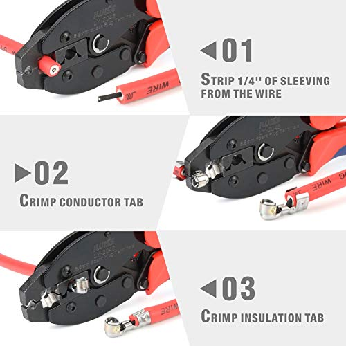 8.5mm Ratchet Wire Crimper Crimping for Spark Plug Ignition Wire Terminals Dia