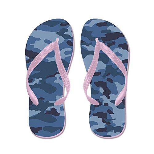 CafePress Blue Camo Pattern - Flip Flops, Funny Thong Sandals, Beach Sandals Pink