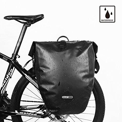 Bike Pannier Waterproof Large Capacity Outdoor Traveling Cycling Rear Seat Bag for Mountain Road Bike Trunk by RHINOWALK