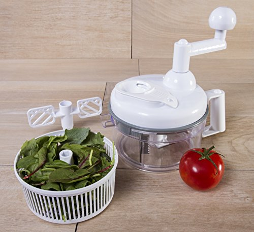 Take Kitchen + Home Food Chopper - Miracle Chopper 4 in 1 Salsa Maker, Food Chopper, Mixer, Blender and Salad Spinner compare