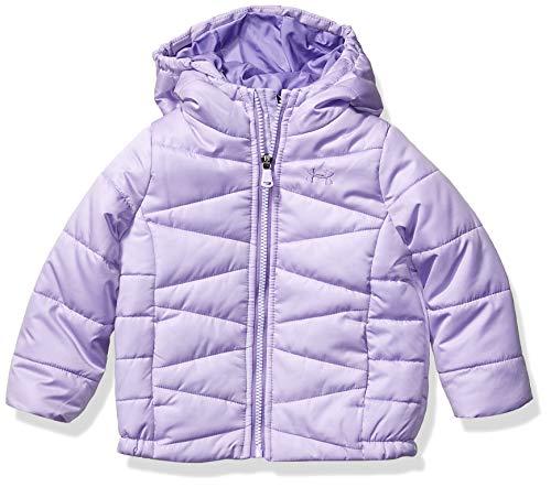 Under Armour Baby Girls' Little ColdGear Prime Puffer Jacket, Purple Crest F, 5