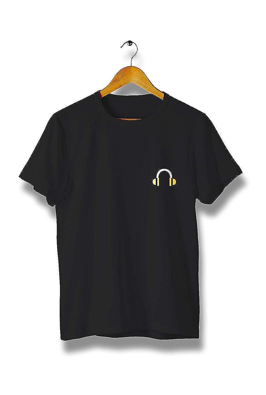 Y128 Kilsd Music Headset T-Shirt Modern Cool Tees for Men