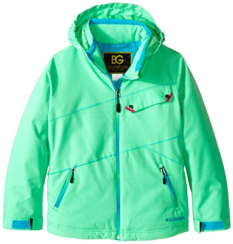 Blue Boulder (Boulder Gear Girls Karma Jacket, Spearmint/Blue, Large)