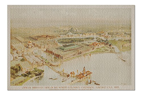 - Chicago World's Fair - Columbian Exposition Vintage Poster (artist: Graham) USA c. 1893 (20x30 Premium 1000 Piece Jigsaw Puzzle, Made in USA!)