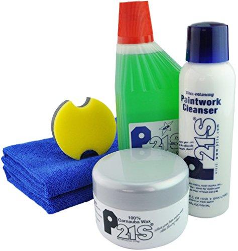 - P21S 100% Carnauba Wax, Paintwork, Bodywork and Microfiber Combo