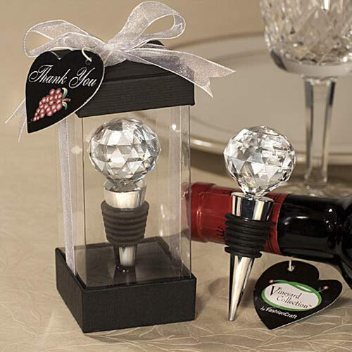 Baost 1Pc Creative Vacuum Sealed Crystal Diamond Red Wine Bottle Stopper Metal Wine Bottle Cork Plug Reusable Wine Saver Cap Gift for Wine Lovers Alcohol Drinkers Party Bar Random