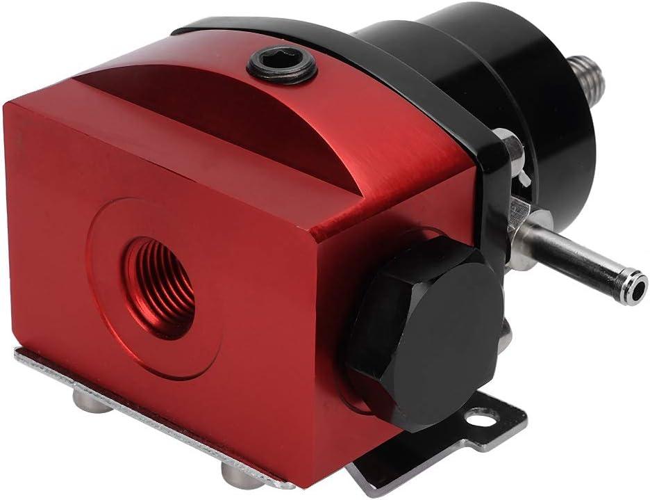 KIMISS Fuel Pressure Regulator ,Universal Adjustable 0-100 PSI Metal Fuel Pressure Regulator Kit Car Accessory