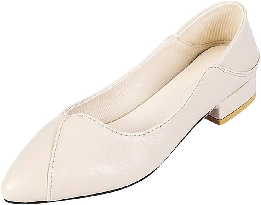 Jodier Zapatos de Bailarina Caminar Plano para Mujer Zapatos Cuña Comodos Náuticos Mujer Cuero de Imitación para Mujer la Mejor Opción para Caminar y Usar Zapatos cuña Casuales Adecuados: Amazon.es: Zapatos y