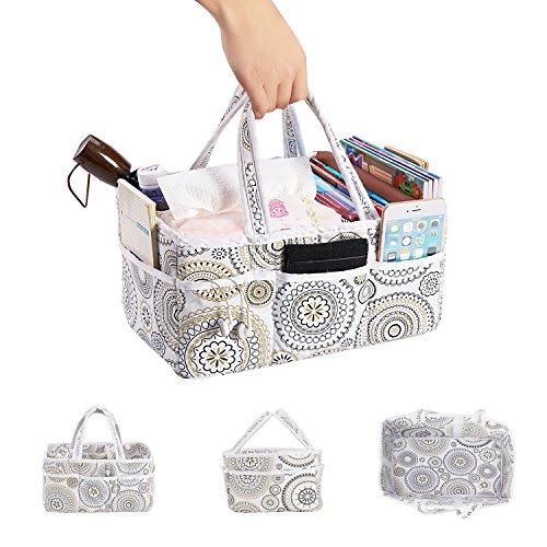 incarpo Baby Large Nursery Diaper Caddy Storage Basket Foldable Organiser Portable Bag Shower Gift Organizer for Boy Girl by incarpo