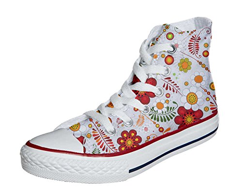 Converse All Star personalisierte Schuhe (Custom Produkt) Floral Paisley