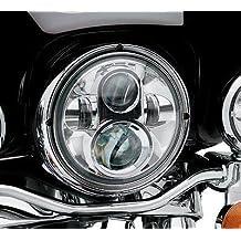 "7"" LED Headlight For Harley Davidson MOTORCYCLE CHROME PROJECTOR DAYMAKER HID LED LIGHT BULB"