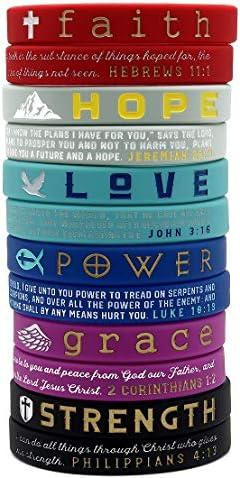 12 Pack Christian Inspirational Bracelets Variety product image
