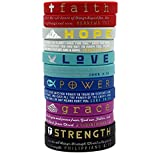 (12-Pack) Christian Inspirational Bible Bracelets
