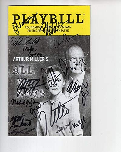 (All My Sons Hand Signed New York City Playbill+coa Signed By)