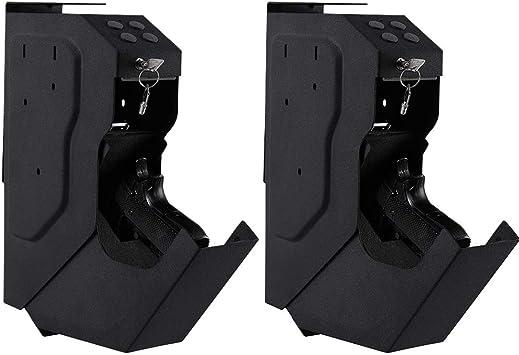 Intergreat caja de seguridad para pistola con caja de seguridad para arma, caja fuerte para pistola con llave digital y 2 llaves de emergencia, Negro: Amazon.es: Deportes y aire libre
